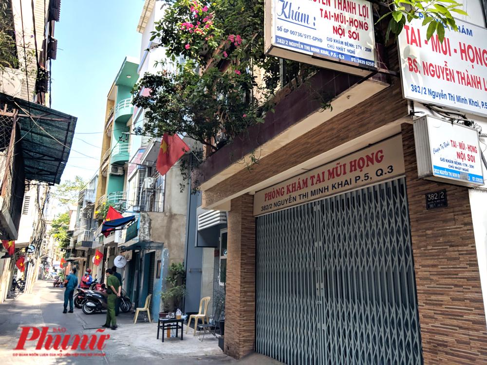 Cách khách sạn Triều Hân vài căn nhà, phòng khám này cũng đóng cửa
