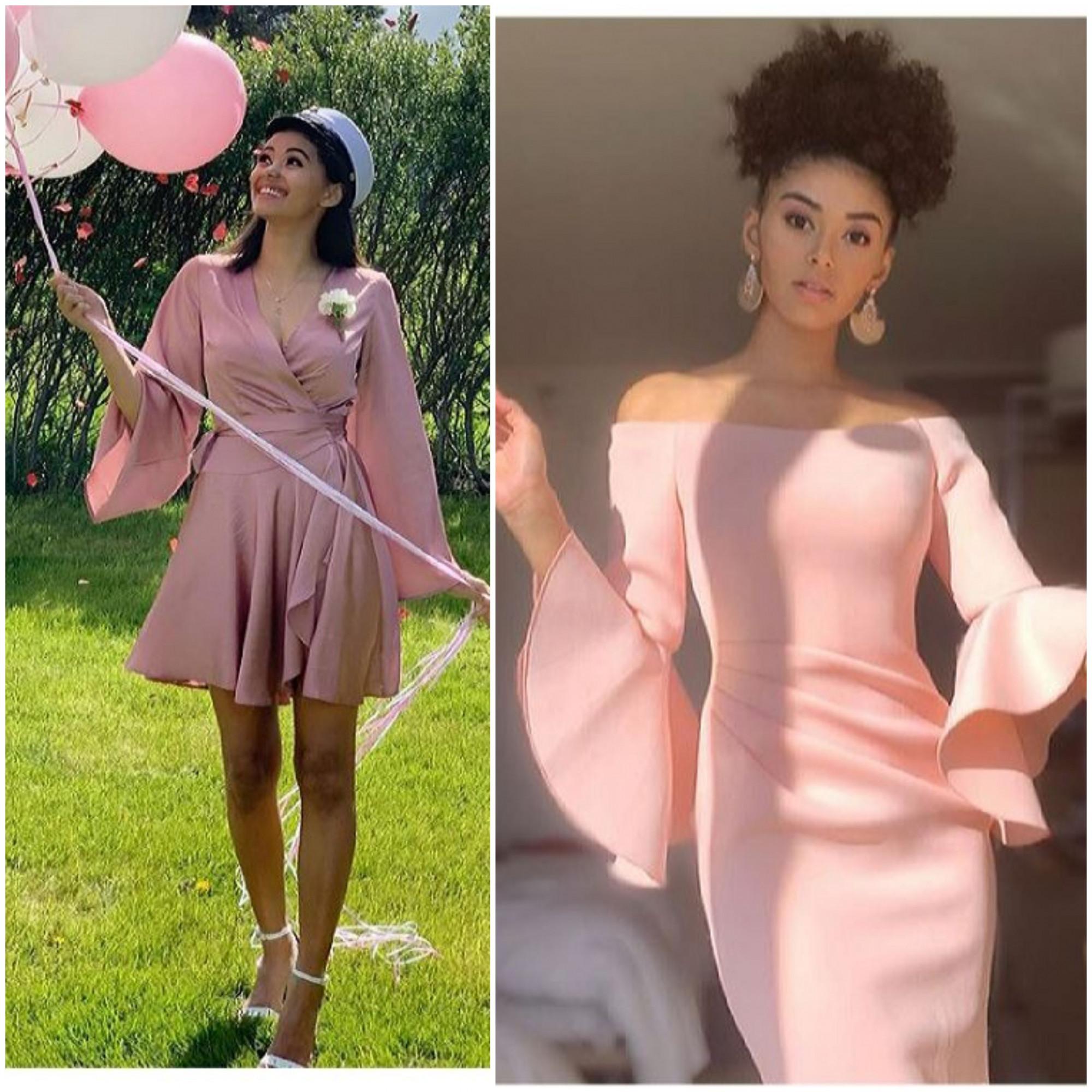 Thỉnh thoảng, Brita cũng đầy nữ tính, ngọt ngào với trang phục hồng pastel