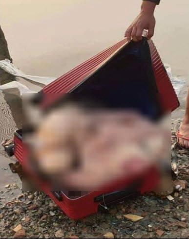 Thi thể nạn nhân được phân khúc bỏ trong vali