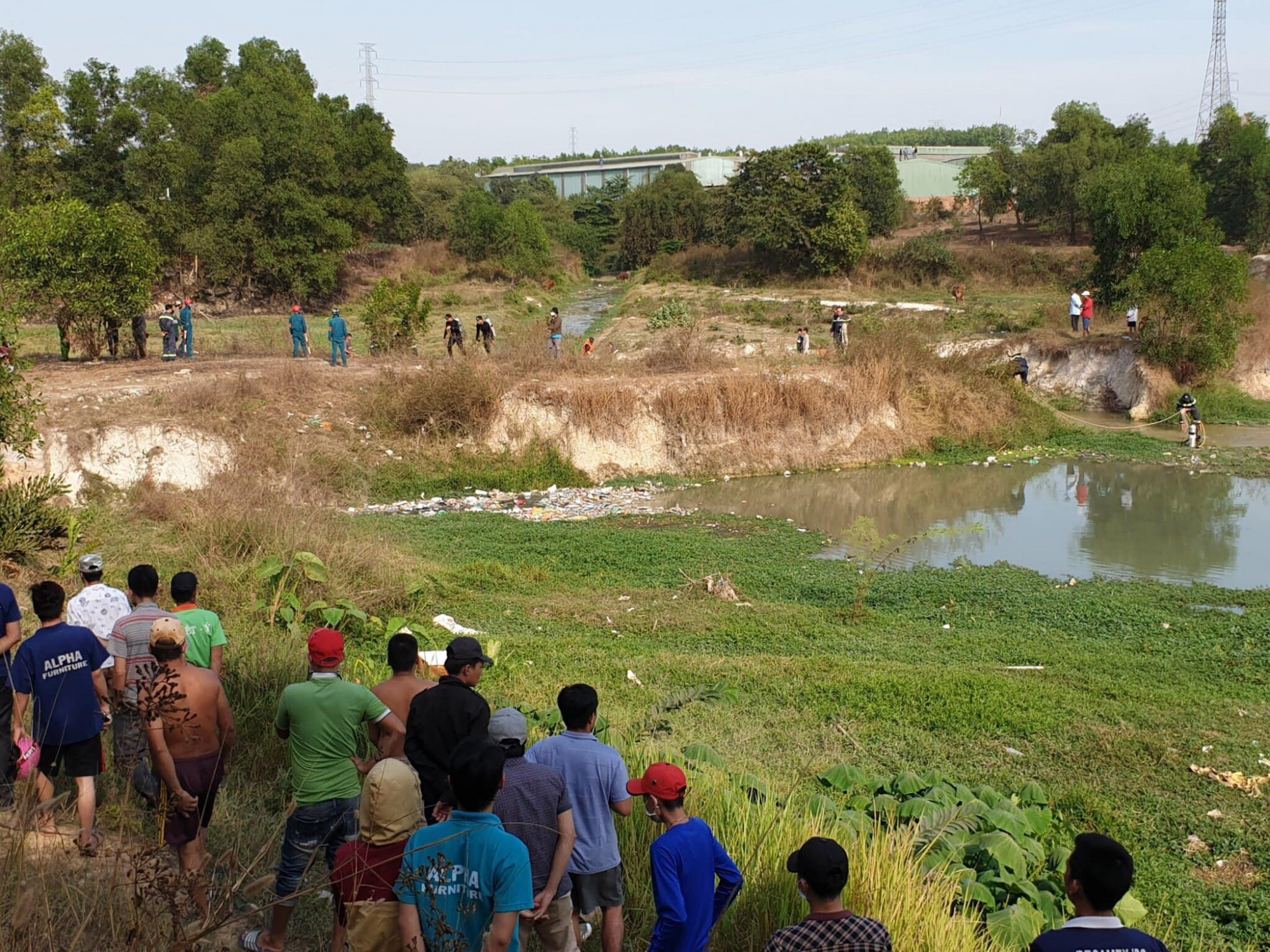 Hồ nước nơi hai nạn nhân tử vong