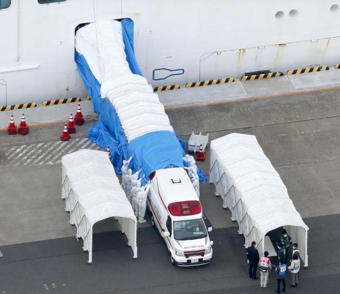 Phần lớn số ca nhiễm được xác nhận nằm trong số khoảng 280 người thể hiện triệu chứng bệnh. Vẫn còn lượng hành khách trên tàu gấp 10 lần con số đó đang cần được kiểm tra.