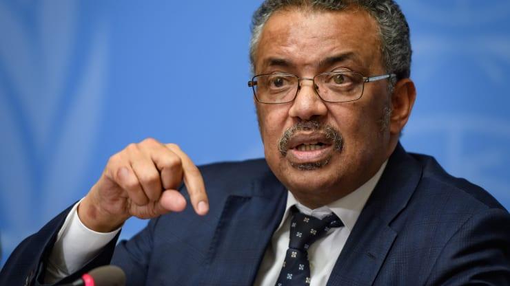 Tổng giám đốc Tổ chức Y tế thế giới (WHO) Tedros Adhanom Ghebreyesus. Ảnh: AFP
