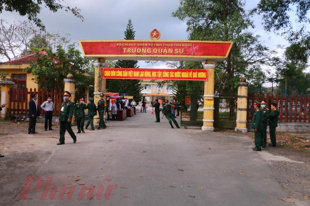 Mọi công việc của trường Quân sự đã hoàn tất chờ đón đoàn công dân từ Trung Quốc trở về làm thủ tục cách ly