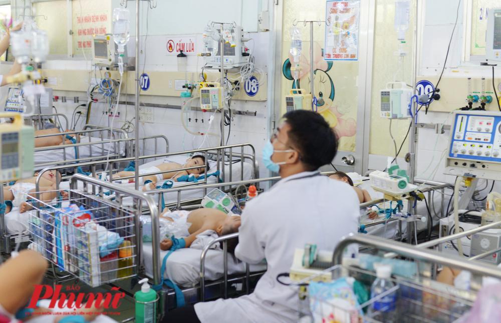 Bệnh nhi được chăm sóc tại khoa Nhiễm - Thần kinh, BV Nhi đồng 1, TP.HCM