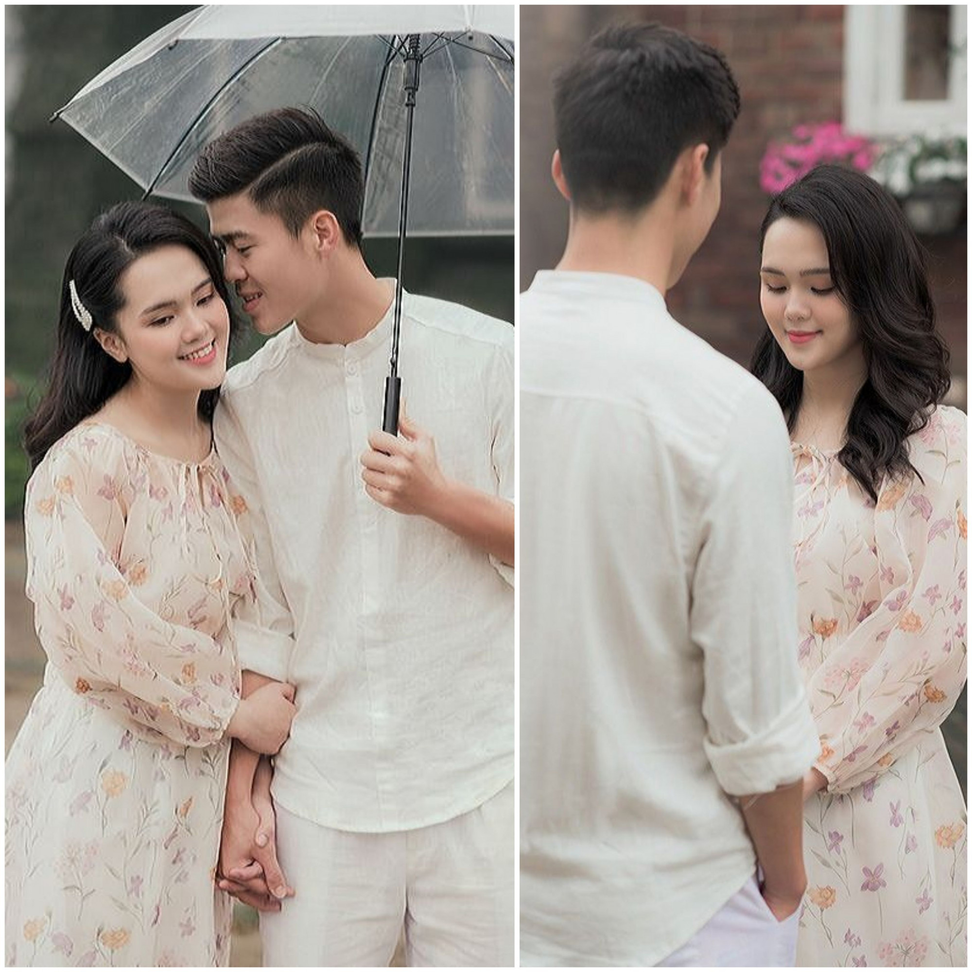Ảnh cưới lãng mạn của Duy Mạnh và Quỳnh Anh thực hiện tại Hàn Quốc.