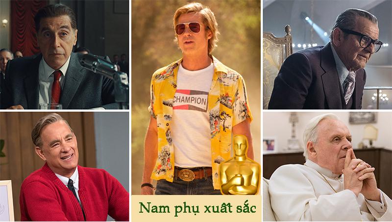 Brad Pitt nhận giải Nam diễn viên phụ xuất sắc nhất trong cuộc đua với 4 diễn viên gạo cội.