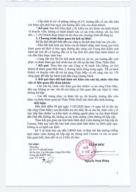 Văn bản Sở Y tế cung cấp thông tin do ông Nguyễn Nam Hùng ký ngày 11/2