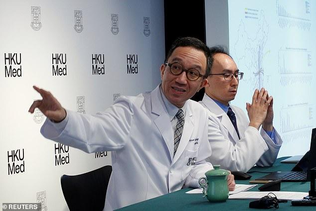 Giáo sư Leung phát biểu trong cuộc họp báo ở Hồng Kông vào tháng 1/2020.