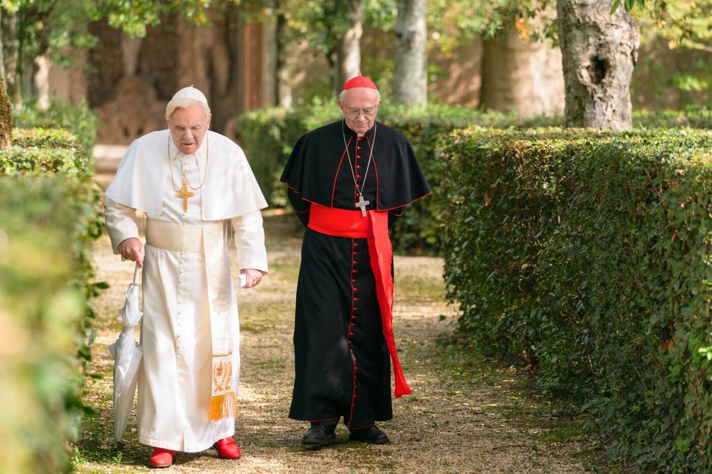 Một cảnh trong phim 2 Giáo hoàng
