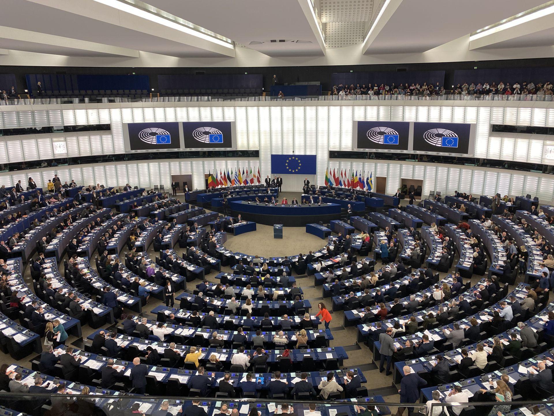 Phiên thảo luận, bỏ phiếu tại Nghị viện châu Âu.