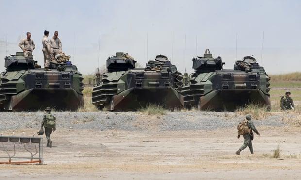 Thỏa thuận lực lượng vãng lai, được ký vào năm 1998, quy định địa vị pháp lý cho hàng ngàn binh sĩ Mỹ được luân chuyển ở Philippines. (Ảnh: AP)
