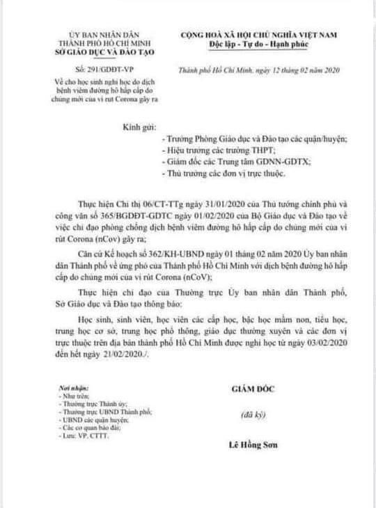Văn bản giả mạo lan truyền trên mạng vào đêm 12/2