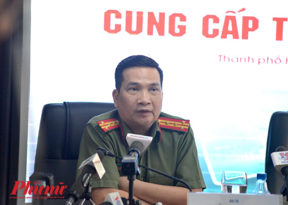 Đại tá Nguyễn Sỹ Quang tại buổi họp báo cung cấp thông tin vụ Tuấn khỉ chiều 14/2/2020