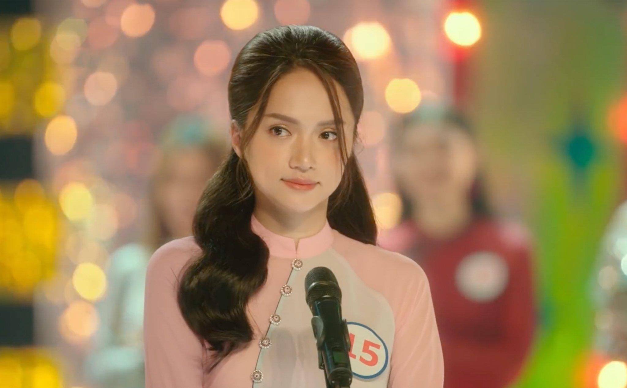Ca sĩ Hương Giang xinh đẹp trên phim