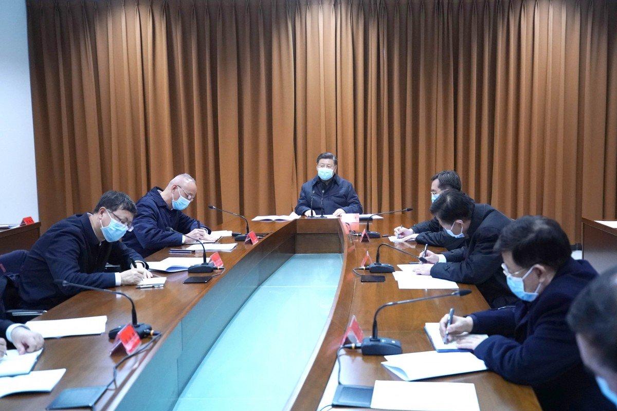 Chủ tịch Tập Cận Bình chủ trì cuộc họp về công tác phòng chống dịch bệnh tại Bắc Kinh ngày 10/2 - Ảnh: Xinhua