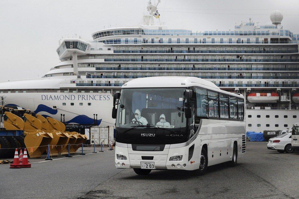 Du thuyền Diamond Princess đang được cách ly tại cảng Yokohama (Nhật Bản) - Ảnh: AP