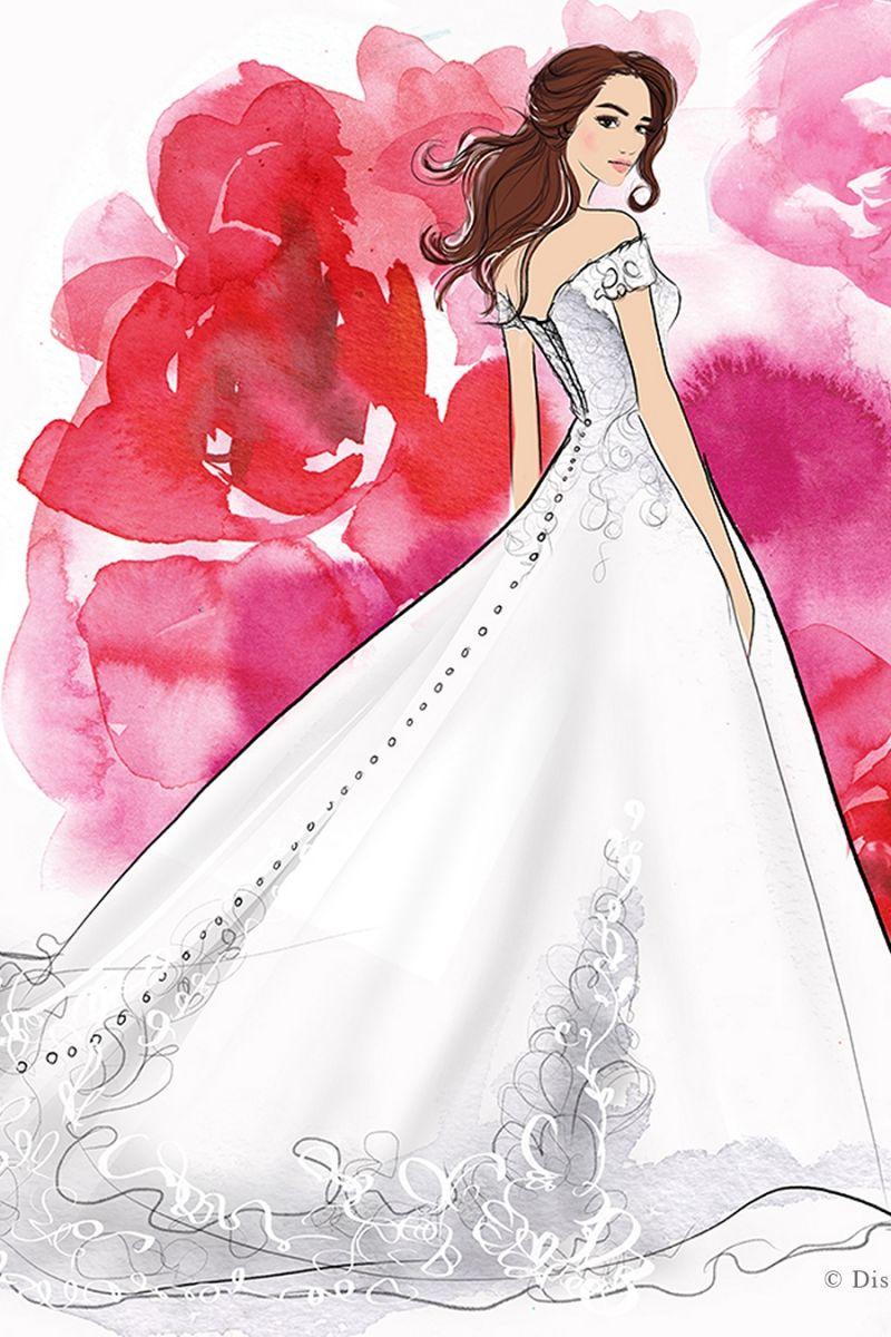 Hình ảnh công chúa Disney được lấy làm cảm hứng cho trang phục cưới của phái đẹp.