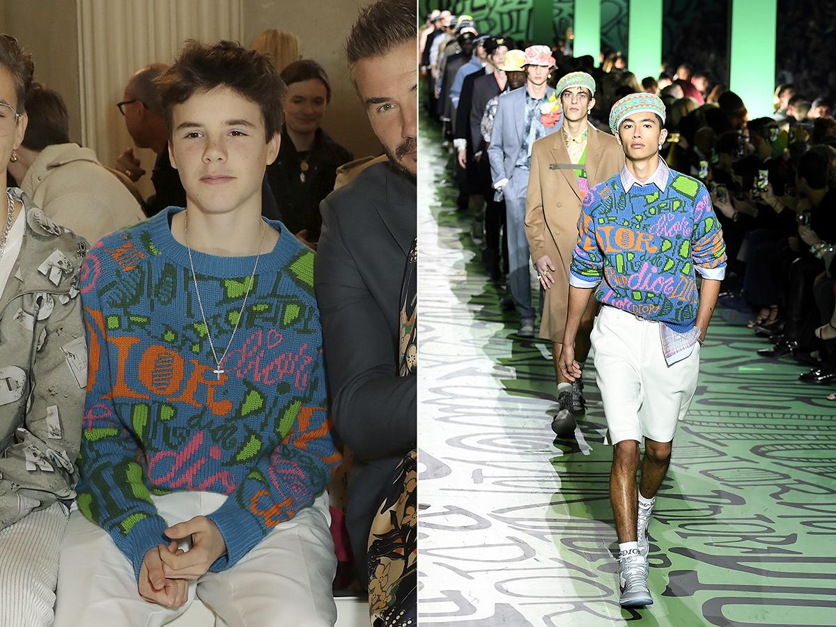 Chiếc áo mà Cruz Beckham, 14 tuổi mặc nằm trong bộ sưu tập của thương hiệu Dior.