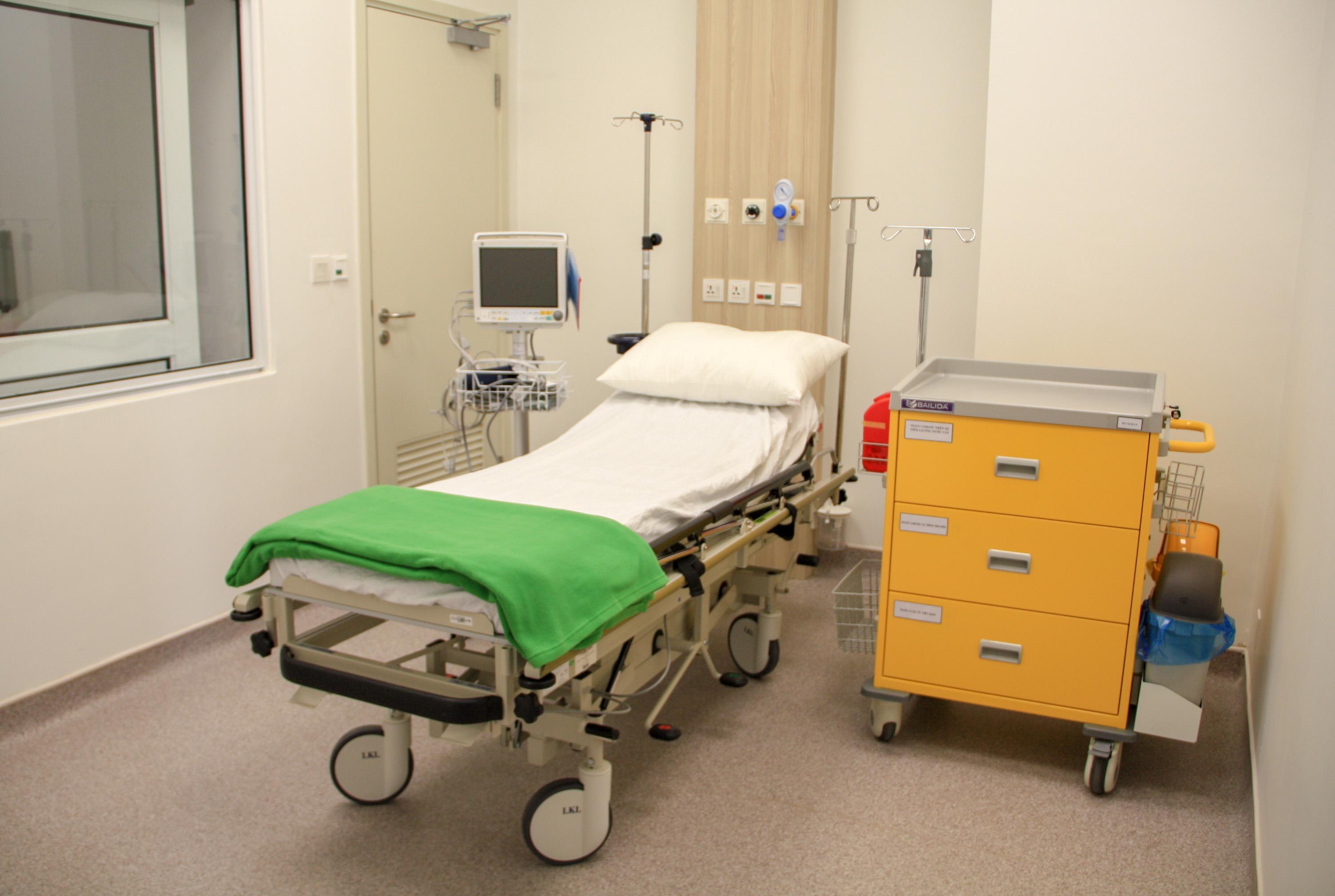 Phòng cách ly áp lực âm chuẩn bị sẵn trong trường hợp có bệnh nhân nhiễm COVID - 19 của Bệnh viện Gia An 115