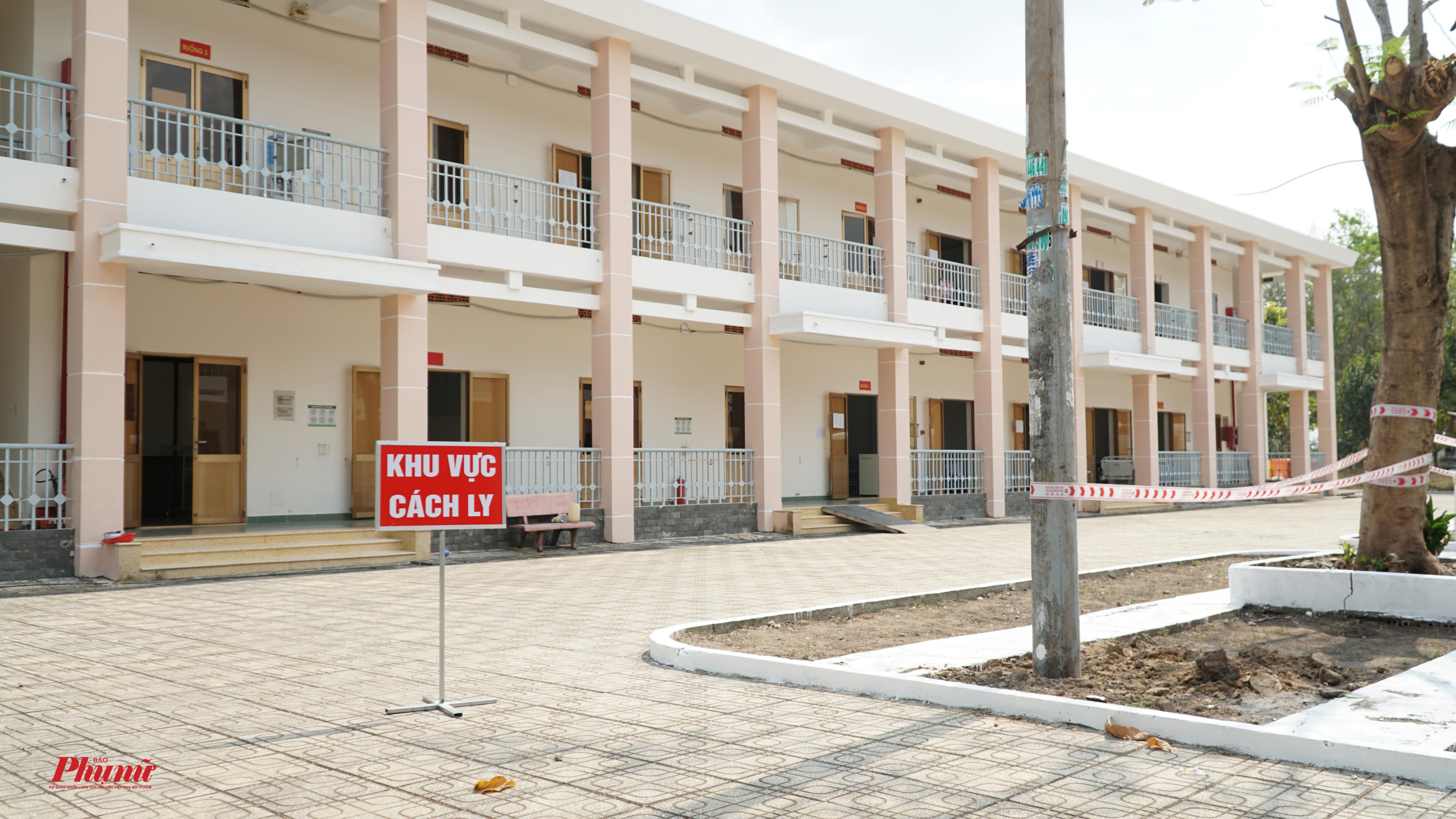 Toàn cảnh Khu 1 (bệnh viện dã chiến Củ Chi) - nơi các ca nghi nhiễm đang được cách li