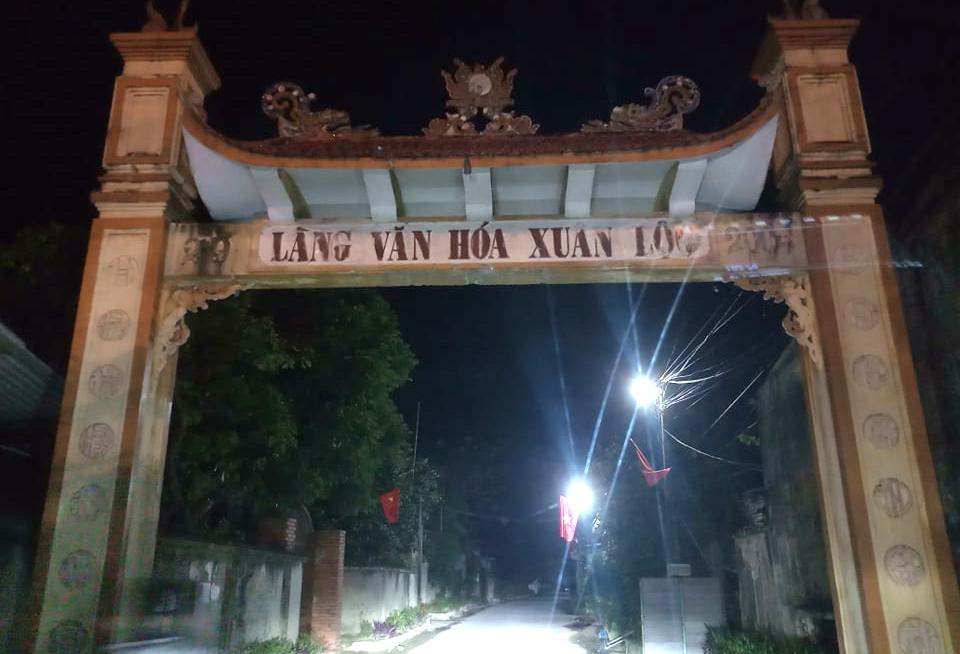 Xóm Xuân Lộc - nơi gia đình 6 người được cách ly sau khi từ xã Sơn Lôi trở về