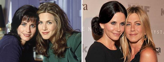 Jennifer Aniston và Courteney Cox quen biết nhau khi góp mặt trong series phim truyền hình ăn khách Friends năm 1994. Sau khi phim đóng máy, hai nữ diễn viên đã duy trì mối quan hệ bạn tốt cho đến tận bây giờ, được giới truyền thông đánh giá là một trong những tình bạn chân thành nhất Hollywood.