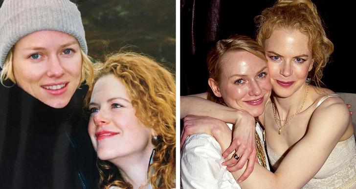 Naomi Watts và Nicole Kidman từng học cùng trường ở Australia trước khi đến Hollywood lập nghiệp. Cả hai vô cùng hợp nhau ở khiếu hài hước. So với thời trẻ khuôn mặt hai nữ diễn viên đã xuất hiện nhiều nếp nhăn khi bước qua tuổi 50.