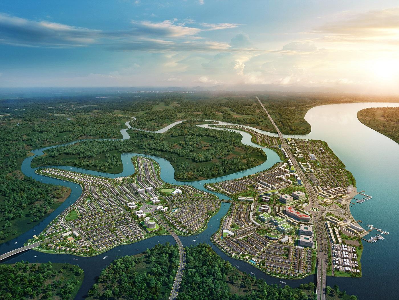 """Khu đô thị sinh thái thông minh Aqua City tọa lạc tại """"vùng xanh"""" phía Nam Biên Hòa, kết nối nhanh chóng đến TP.HCM và các trung tâm kinh tế, du lịch vùng Đông Nam bộ"""