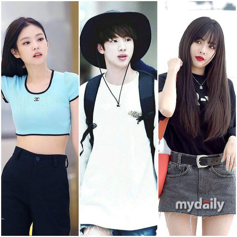Gu thời trang đường phố sành điệu của Jennie, Jin (BTS) và HyunA.