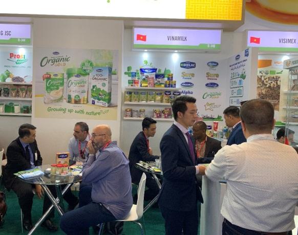 Dòng sản phẩm Organic cao cấp được Vinamilk giới thiệu một cách nổi bật tại Hội chợ