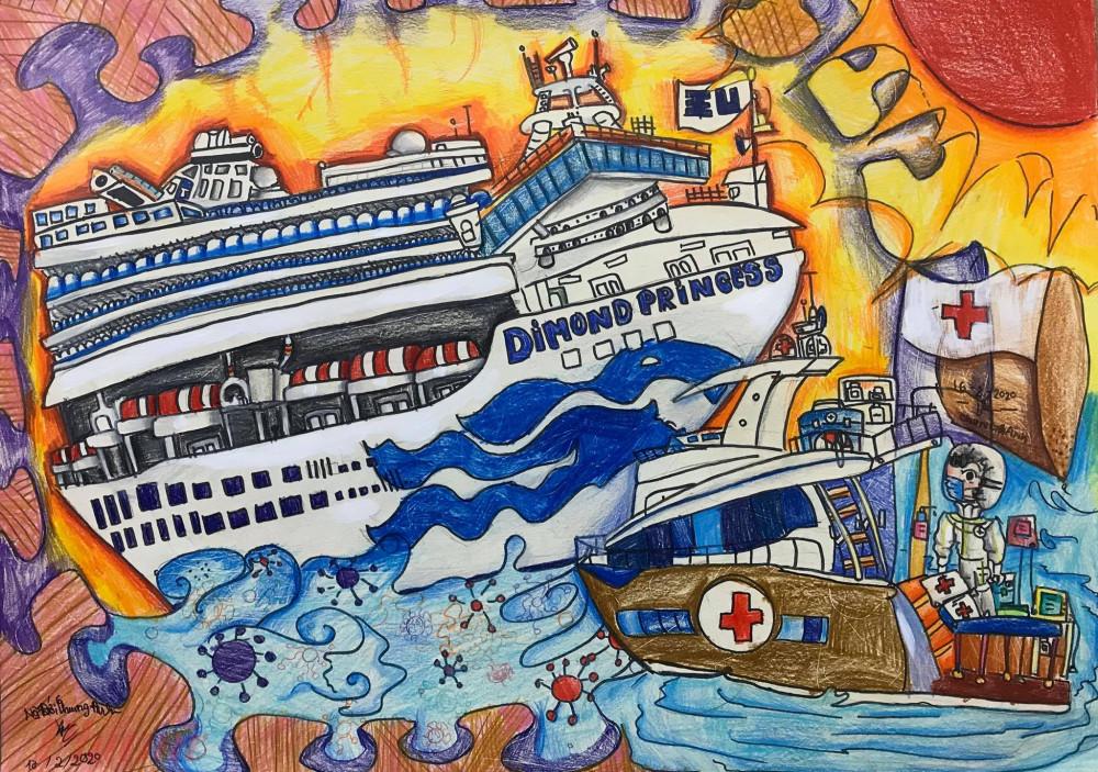 Bức tranh Giải cứu du thuyền