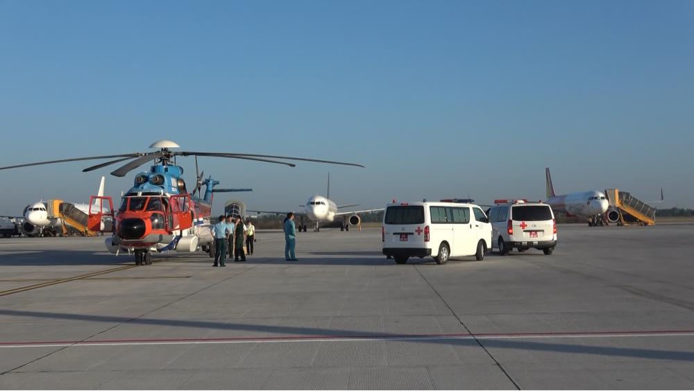 2 nạn nhân được cấp cứu khẩn cấp bằng trực thăng