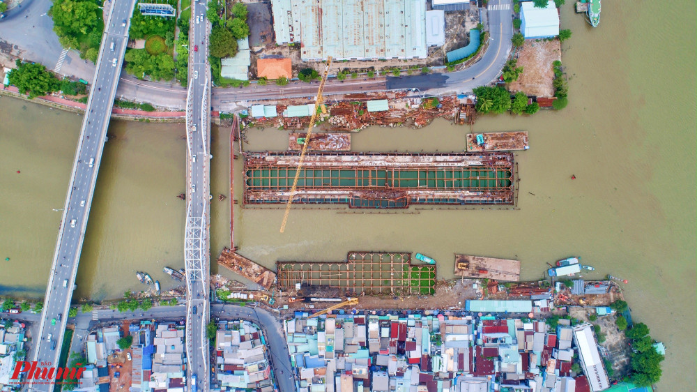 Cống Tân Thuận sẽ ngăn triều từ sông Sài Gòn vào kênh Tẻ, kênh Đôi