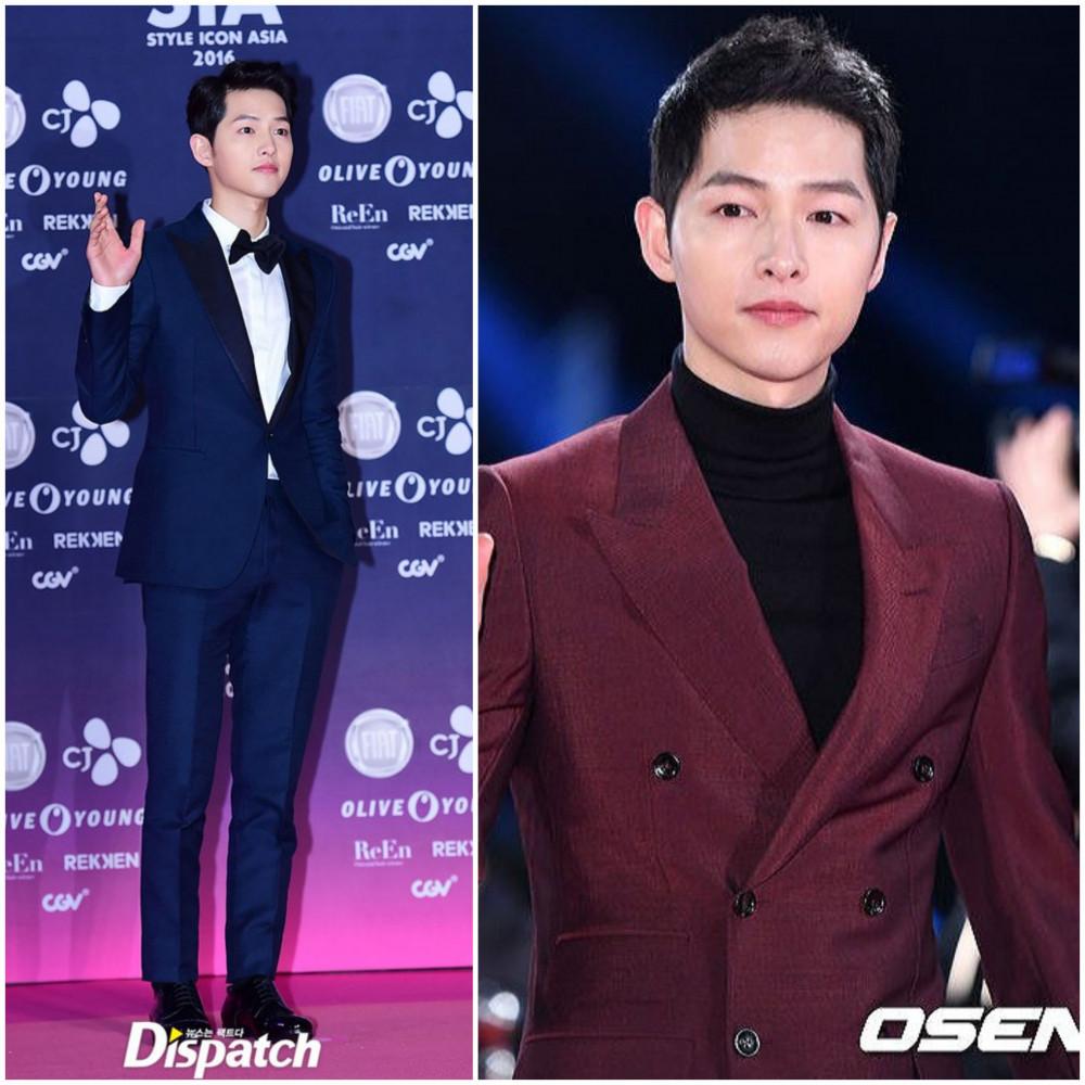 Gu thời trang của Song Joong Ki ngày càng nam tính và trưởng thành hơn.