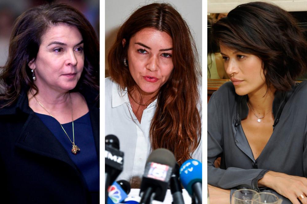 3 nạn nhân tố cáo Harvey Weinstein, từ trái sang: