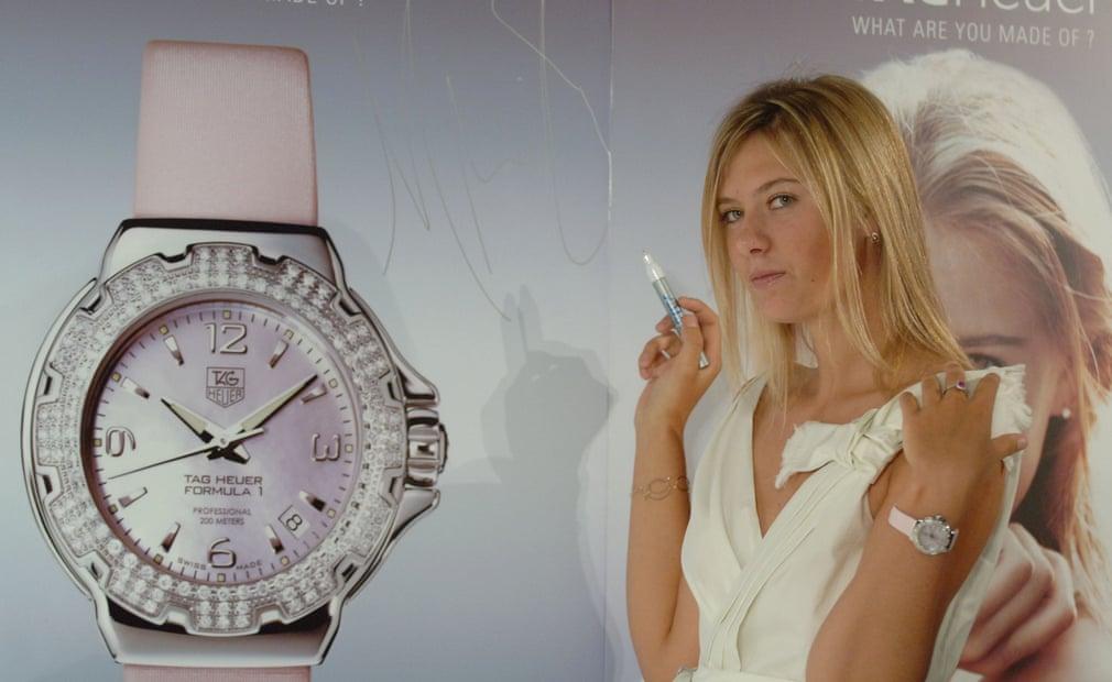Danh hiệu Wimbledon và thứ hạng số 1 đã cho phép Maria Sharapova bảo đảm các hợp đồng thương mại của mình, như vai trò dại diện hình ảnh cho hãng Tag Heuer nơi cô ra mắt chiếc đồng hồ Công thức 1 Glamour Diamond mới của họ.