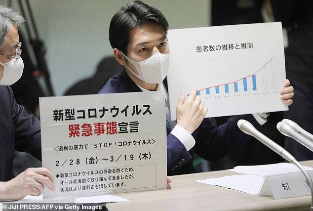 Thống đốc Hokkaido - ông Naomichi Suzuki - thông báo tình trạng khẩn cấp hôm 28/2.