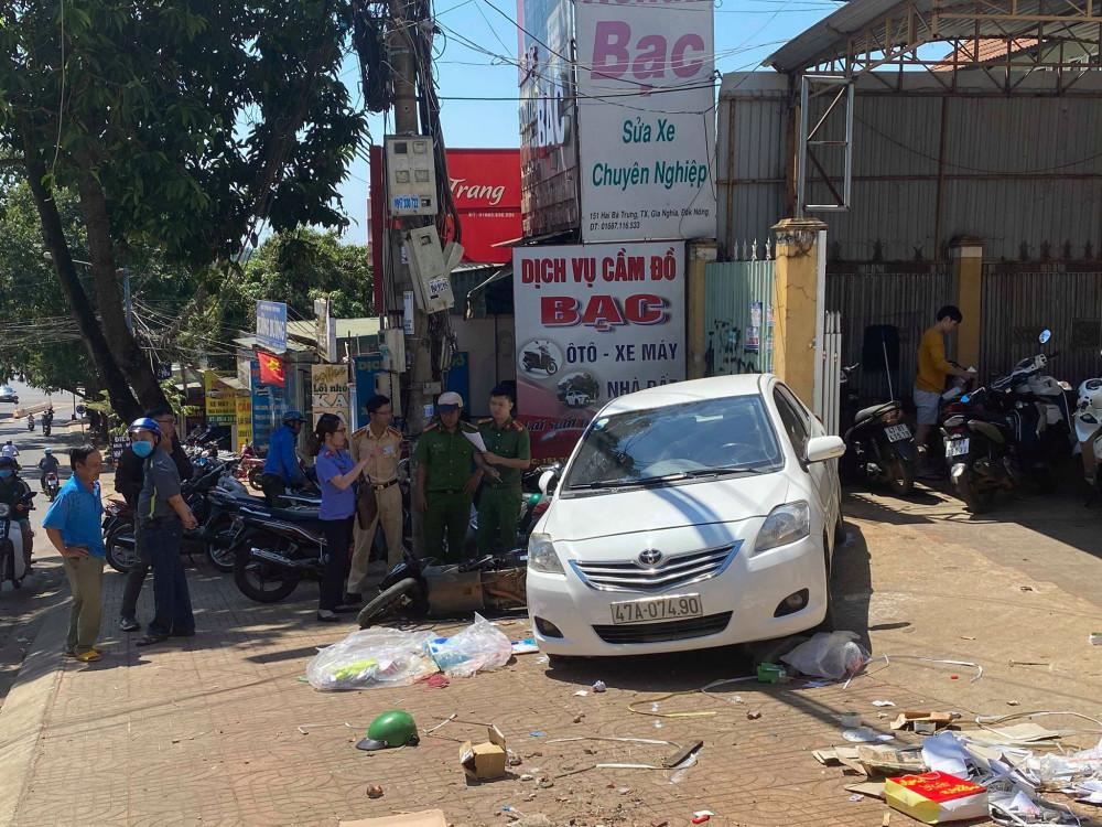 Chiếc xe ô tô gây ra vụ tai nạn sau khi trôi tự do