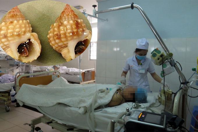 Bệnh nhân ngộ độc ốc bùn bóng được điều trị tích cực tại BV đa khoa tỉnh Khánh Hòa