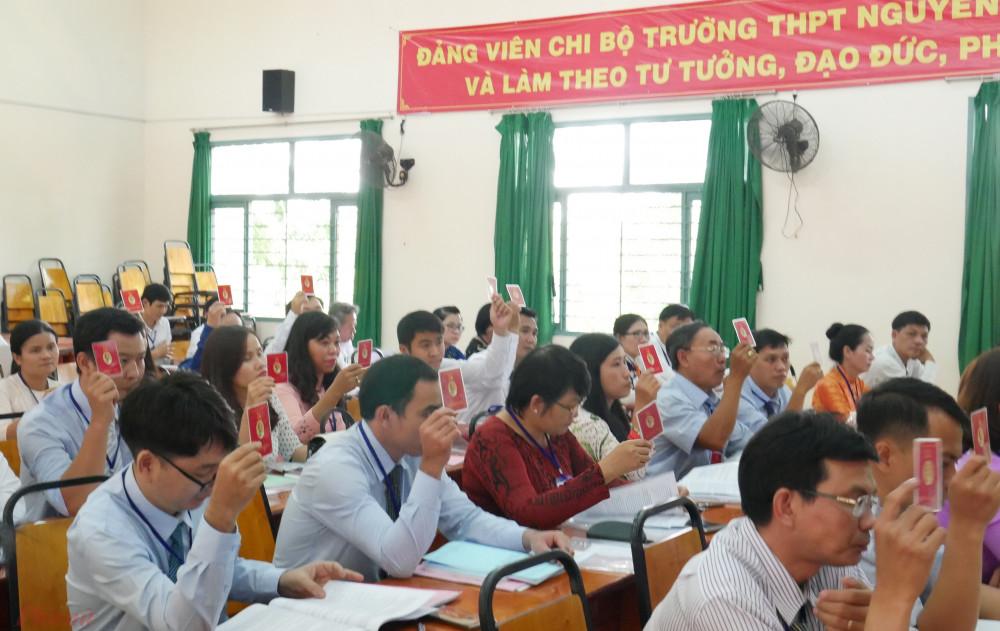 !00% đại biểu tham gia biểu quyết tại Đại hội.