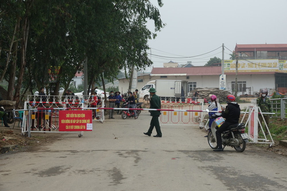 Một điểm cách ly tại xã Sơn Lôi.