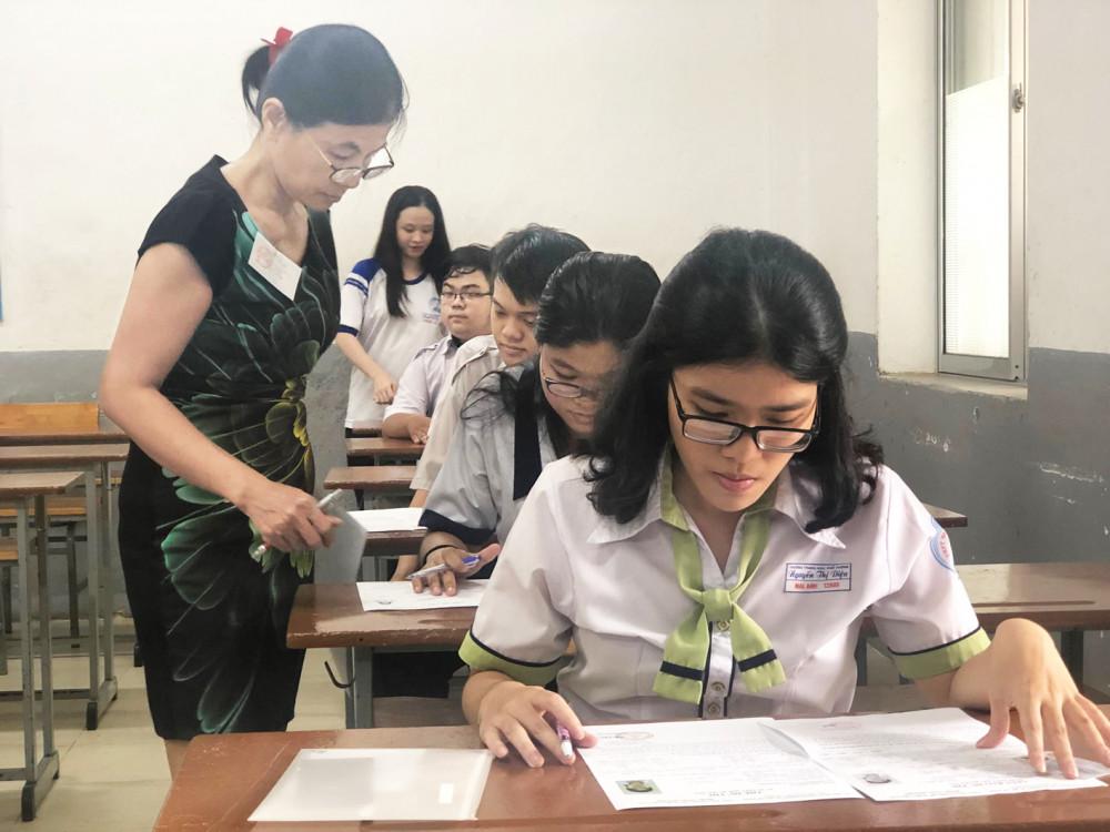 Thí sinh dự thi THPT quốc gia năm 2019 Ảnh: Tiêu Hà