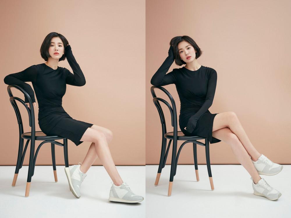 """Phong cách trước đây của cô luôn lấy sự thanh lịch, tinh tế làm chủ đạo để tôn vinh lên nét đẹp tự nhiên nhất của sắc vóc. Đồng thời, vì sở hữu chiều cao chưa đến 1,6m nên những bộ cánh đơn giản giúp cho Song Hye Kyo trông cao ráo và thanh thoát hơn hẳn.Song Hye Kyo thường chọn những bộ váy có chiều dài trên gối, có phom dáng chữ A xòe bồng vừa giúp tôn vòng eo lại """"kéo dài"""" đôi chân."""