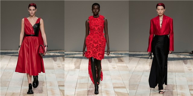 Những mẫu thiết kế với tông màu đỏ, đen chủ đạo.