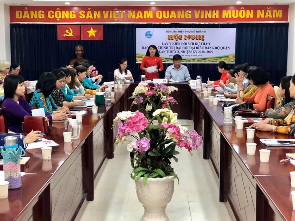 theo bà Lương Thanh Trúc- Chủ tịch Hội LHPN quận 6, đây là một diễn đãn để cán bộ Hội góp tiếng nói trong xây dựng Đảng, xây dựng Chính quyền.