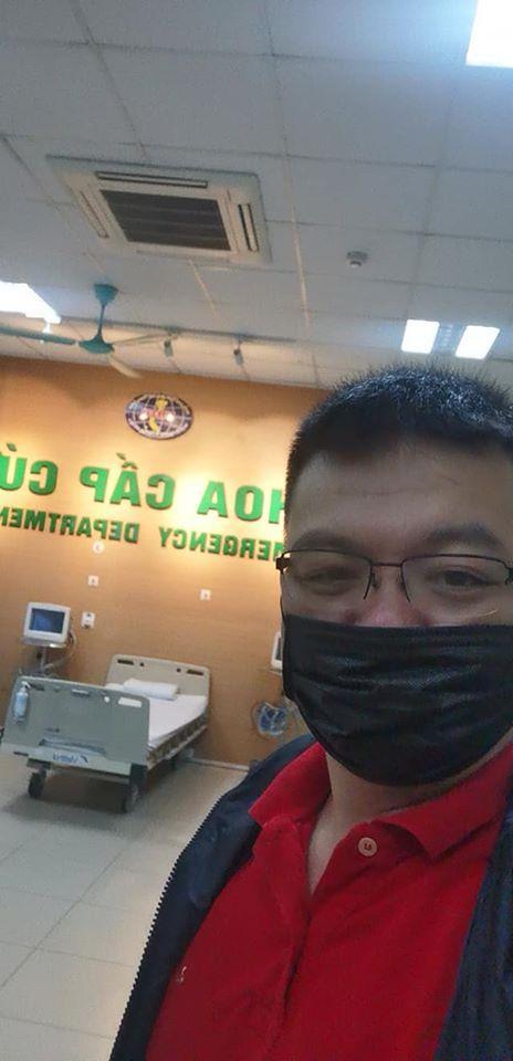 Chủ tài khoản Facebook Long Pham Quang trong khu cách ly ở Đông Anh