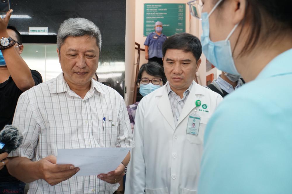 Thứ trưởng Bộ Y tế Nguyễn Trường Sơn kiểm tra các quy trình phòng chống dịch tại Bệnh viện An Sinh TPHCM