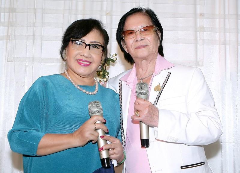NSND Lệ Thuỷ và nghệ sĩ Minh Cảnh tái ngộ hồi năm 2018