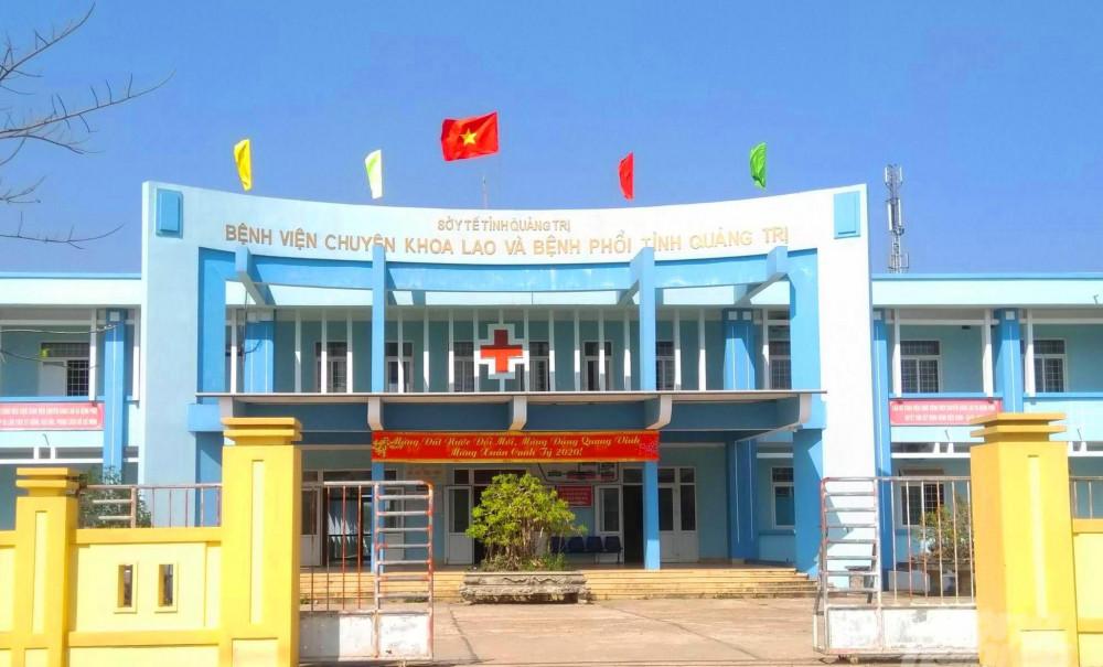 Bệnh viện Lao phổi tỉnh Quảng Trị nơi ông Lê Th,H và 3 nhân viên của mình đang cách ly